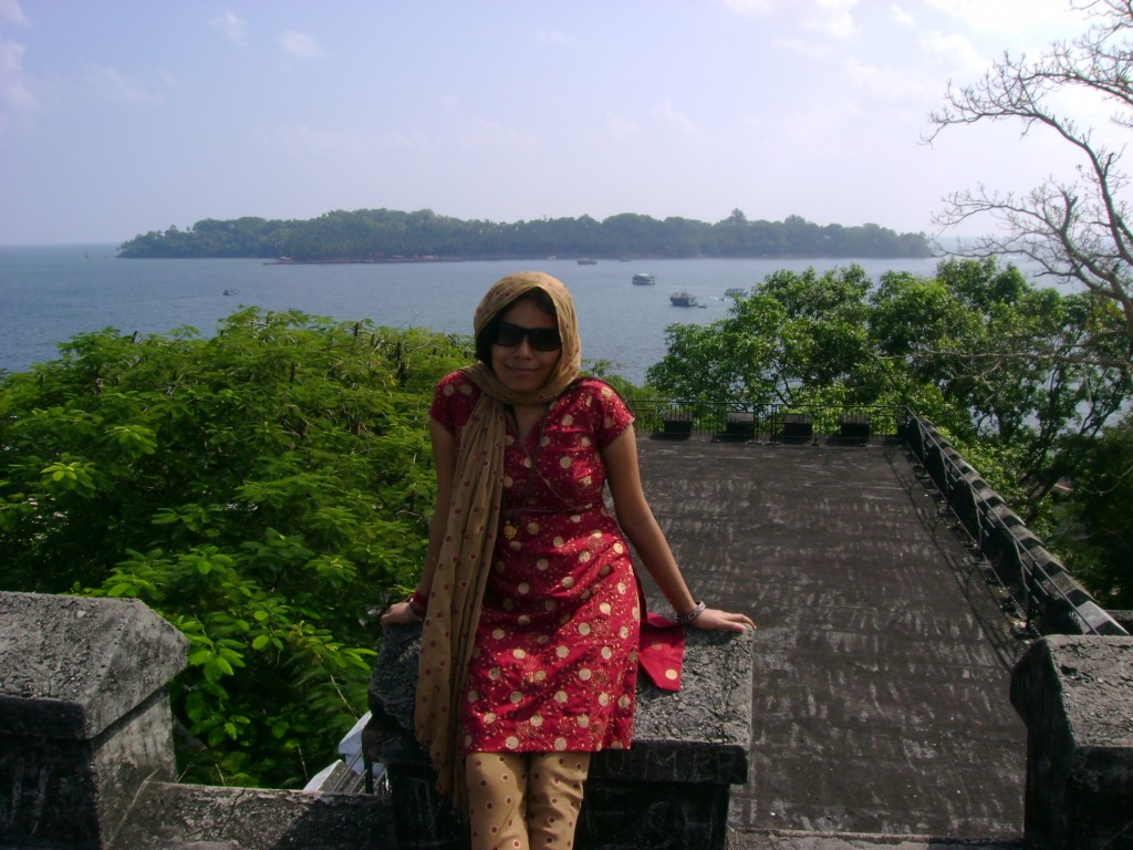 A view of Ross Island from the top of Cellular Jail