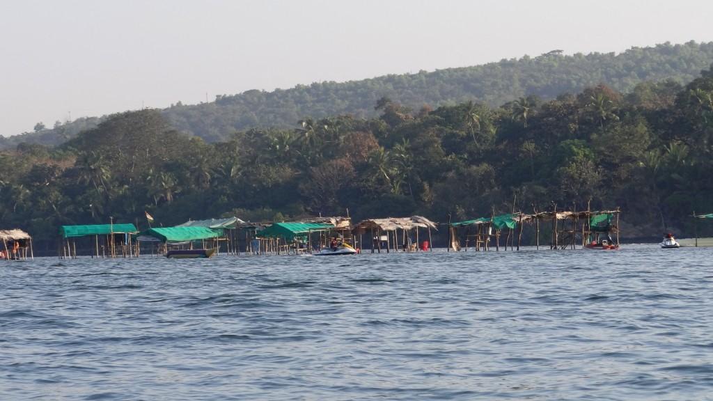 Tsunami Island submerged into the water