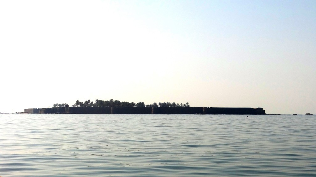 A view of Sindhudurg Fort from Malvan Jetty