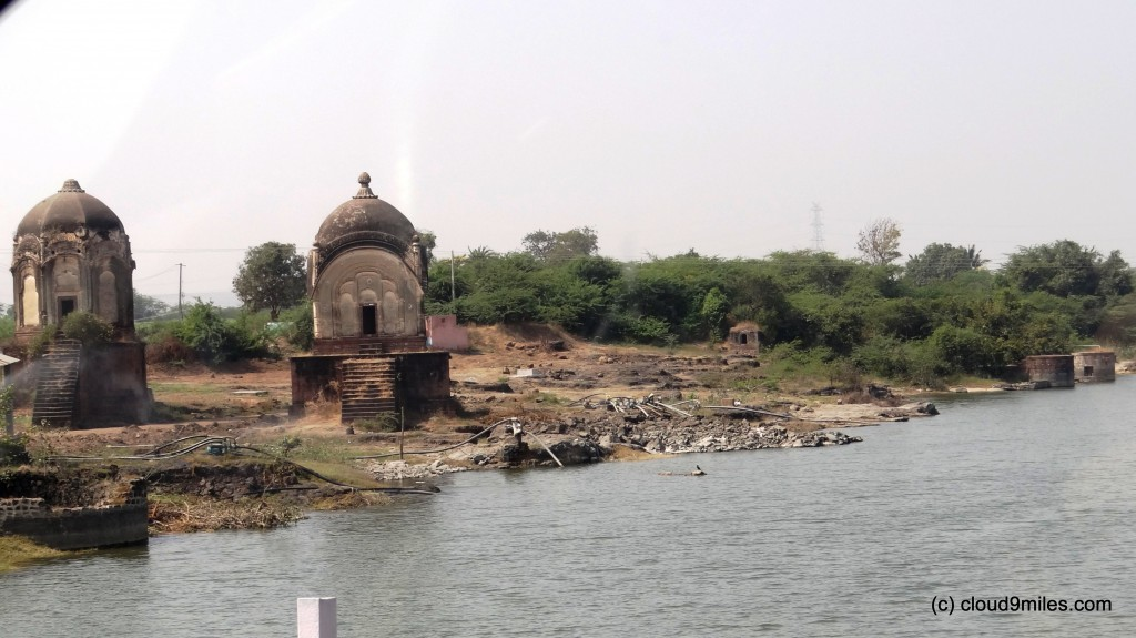 Old temple on the banks of river