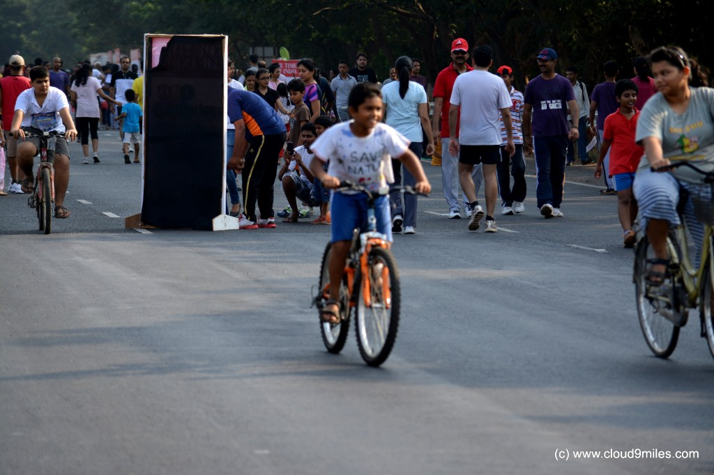 Children in cycling mood