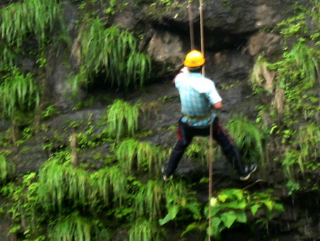 Waterfall Rappelling at Mahuli