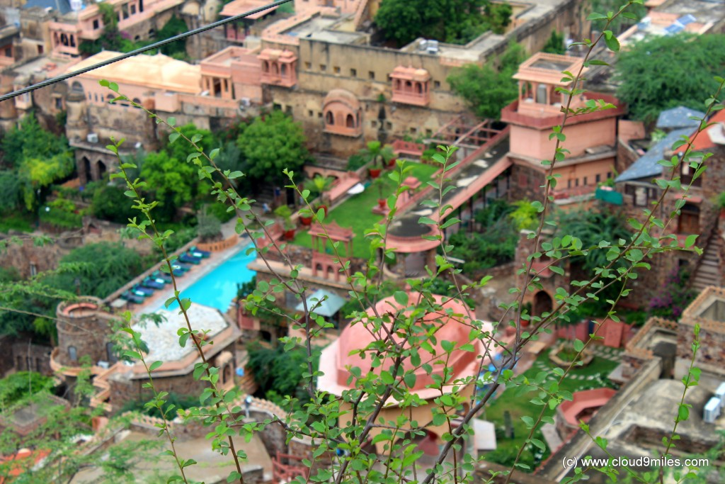 A bird's eye view of Neemrana Fort Palace