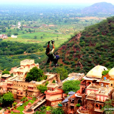 Zip-Line – at Neemrana with Flying Fox!!!