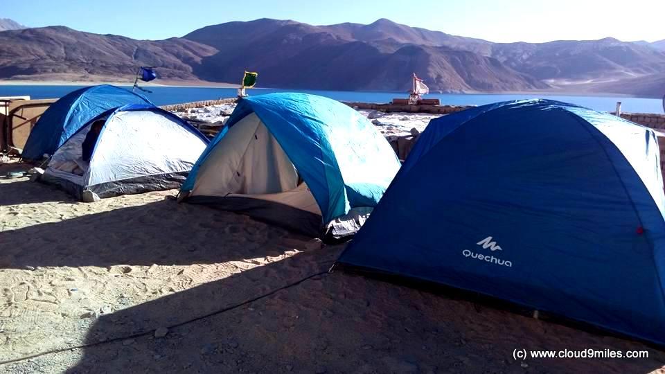 Pangong Tso Camping