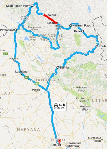 Delhi - Sach - Kaza - Delhi