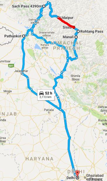 Delhi - Sach - Manali - Delhi